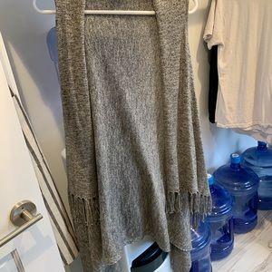 Chelsea and Theodore- grey vest w/ fringe trim